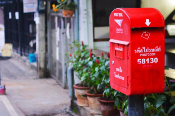 タイ 郵送 ポスト